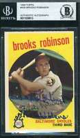 Brooks Robinson Bas Beckett Coa Autograph 1959 Topps Authentic Hand Signed