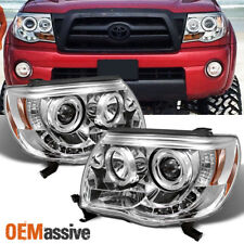 05-11 Tacoma Pickup Halo Projector LED Headlights Lamps Replacement Left+right
