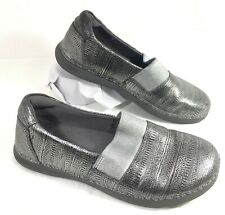 GUC Alegria GLEE Gray Pewter leather Clogs MJ Sz 36 US 5.5-6