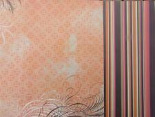 "12""X12"" Scrapbook Paper Double Sided Flourish & Stripe Orange"