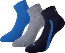 6 x Puma Sneaker Socken Quarter navy/grey/blue 39/42