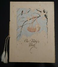 Vintage 1932 Our Baby's Book Record Journal Homeopathic Hospital.