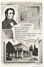 160457 NAPOLI TORRE DEL GRECO - VILLA d. GINESTRE - POESIA LA GINESTRA LEOPARDI
