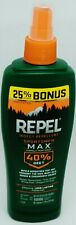 1 REPEL Insect Repellent SPORTSMEN MAX Formula Pump Spray 40% DEET Lasting 7.5oz