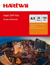 More details for 20sheets a3 ohp film inkjet  overhead projector transparent film 420x297mm hartw