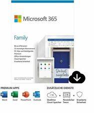 Microsoft Office 365 Family (6 User / 1 Jahr) PC / MAC Download ESD Lizenz ✅