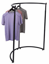 "Half Round Clothing Rack Pipeline Clothes Black Garment Adjustable 52 - 72"" H"