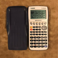 Casio fx-9750GII Graphing Calculator - White/grey With Cover. CASIO USB Power GR