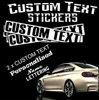 2 x CUSTOM TEXT Personalised Name Lettering  Car/Van/Window Shop Decal Sticker