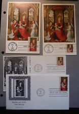 US first day post card & covers Christmas issues lot collection 1966 FDC