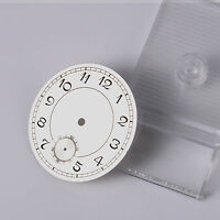 38.9mm White Watch Dial Plate For  6498 3620 Hand Winding Movement