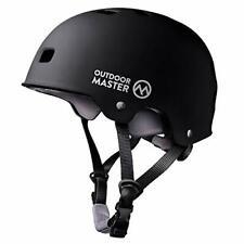 Skateboard Helmet - Astm & Cpsc Certified Lightweight Skate with Medium Black