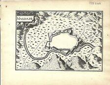 Antique map, Masdazil (Le Mas-d'Azil)