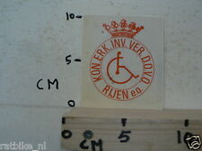 STICKER,DECAL KON. ERK. INV. VER. DOVO RIJEN EO, NOT 100 % OK