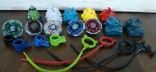 BEYBLADE LOT Burst Metal Fusion Launchers Ripcords Base 2010 Hasbro 21 pieces