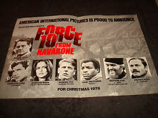 FORCE 10 FROM NAVARONE ad Harrison Ford, Robert Shaw, Carl Weathers Barbara Bach