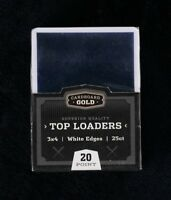 100 CBG WHITE BORDER Trading Baseball Card Rigid Topload Holders hard TL1
