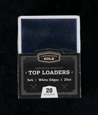 100 CBG WHITE BORDER Trading Baseball Card Rigid Topload Holders hard TL1
