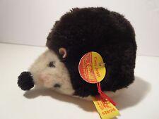 Steiff porcupine hedgehog Cosy Joggi button flag made in Germany 506 Cute!