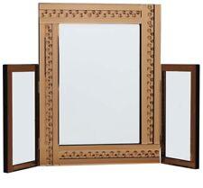 Large Glitz Bronze Dressing Table Mirror All Glass 62cm Tall