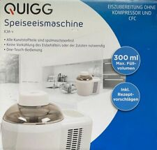 QUIGG Speiseeismaschine Eismaschine One Touch Eiszubereiter Frozen Joghurt NEU