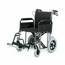 Roma Medical 1485X Heavy Duty Extra Wide Attendant Wheelchair With Brakes 32stn