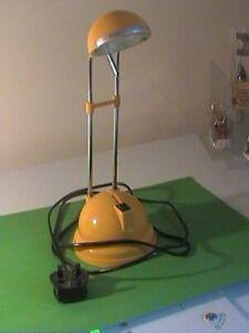 Yellow (Lloytron)'Modern Classic' Halogen Desk Lamp