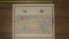 1878 Atlas - Eau Claire County, Wisconsin Map ORIGINAL - WI city Medford Taylor