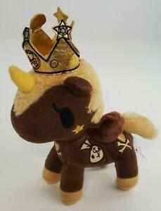 "9"" Tokidoki Prima Donna Plush Doll Toy Unicorn Crown Stuffed Horse Brown"