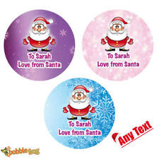 48 x Personalised Christmas Stickers Santa Father Christmas Present Labels - 059