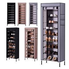 AcornFort® S2 10 Tiers 30 Pairs Sturdy Shoe Rack Storage Cabinet Dustproof Cover