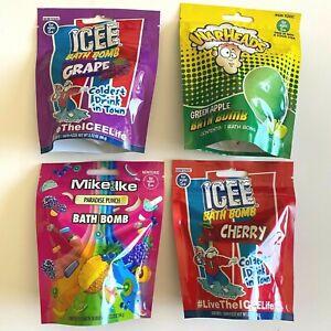 Bath Bombs 4 Packs Candy Icee Grape Icee Cherry Airheads Warheads Non Toxic