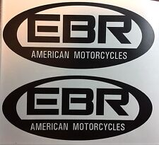 Buell EBR Oval Decals. Matte Black. Set of two.