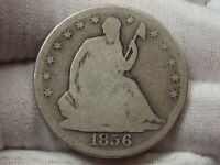 1856-o Seated LIBERTY Half Dollar.  #21