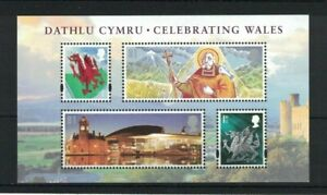 MGB182) Great Britain 2009 Celebrating Wales Minisheet MUH