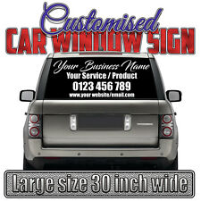 【CUSTOM CAR BUSINESS SIGN】VINYL DECAL STICKER Personal Company Name Lettering