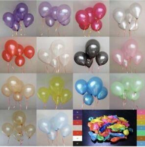 "10-100 pcs X 10""  PEARL Metallic BALLOONS BALLON helium BALOON Birthday Party"