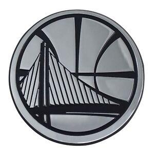 Golden State Warriors NBA Chrome Metal Car Auto Emblem Team Decal Logo
