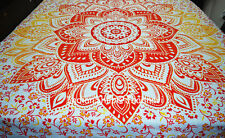 Ombre Mandala Wall Hanging Ethnic Throw Bedspread Cotton Hippie Blanket Cover