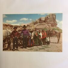 Navajo Family on the Reservation Navajo Indians Unposted Postcard
