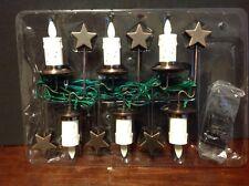 Set of 6 Luminara LED Christmas Tree Candles Light Strand Realistic Flame Bronze