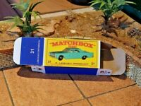 MATCHBOX REG.WHEELS NO.31C LINCOLN CONTINENTAL CUSTOM DISPLAY/STORAGE BOX ONLY
