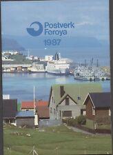 POSTVERK FOROYA FAROE ISLANDS STAMP YEAR PACK 1987 COMPLETE MNH STAMPS