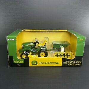 John Deere X585 Garden Tractor w/ Attachments Scale 1/16