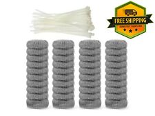 40 pack Washing Machine Lint Traps Snare Filter Screen Stainless Steel Mesh Ties