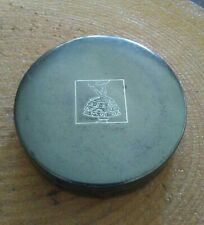 Art Deco Tre Jur New York compact with mirror and powder puff.