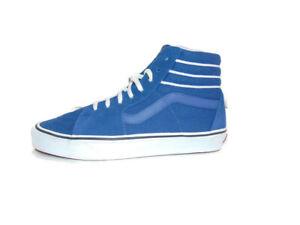 Vans Sneakers Blue Suede Sk8-Hi Sport Stripes True Navy Shoes Mens Size 8.5