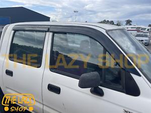 Luxury Weathershields, Weather shields for Toyota Hilux dual Cab 97-05 T