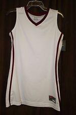 Nike Womens Basketball Jersey White With Maroon Trim Sleeveless New NWT Medium