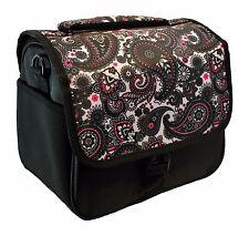 Designer Black Paisley DSLR Camera Bag, HAN-E226678849